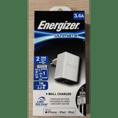 Energizer lader met USB-A to Lightning kabel - 1m