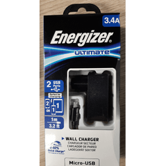 Energizer lader met USB-A to Micro-USB kabel - 1m