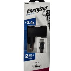 Energizer lader met USB-A to USB-C kabel - 1m
