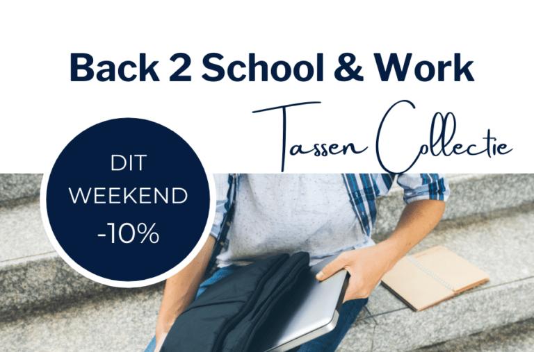 Dit weekend: 10% korting op laptoptassen, -rugzakken en -hoezen!