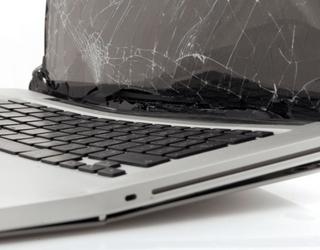 Laptop gevallen